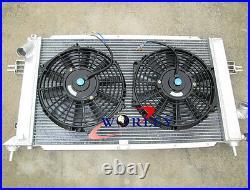 2ROWS for Opel Vauxhall Astra VXR Z20LEH Turbo Engine Aluminum Radiator + FANS