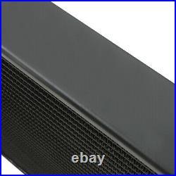 40mm BLACK ALLOY RADIATOR RAD FOR VAUXHALL OPEL ASTRA G MK4 2.0 Z20LET GSI SRI