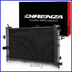 40mm DIRENZA BLACK ALLOY RADIATOR FOR VAUXHALL OPEL ZAFIRA MK1 2.0 Z20LET GSI