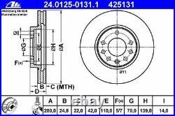 ATE BREMSSCHEIBEN 280mm + BELÄGE VORNE für OPEL ASTRA H + ZAFIRA B