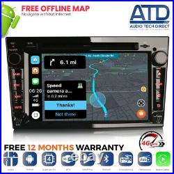 Car Radio For Vauxhall Astra Mk5 H Android 10.0 Auto CarPlay GPS DAB WiFi BT 7