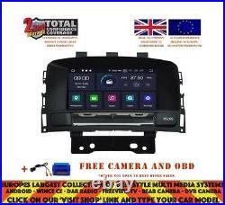 DVD Navi Bt Android 10.0 4/64gb 8core Dab+ Vauxhall Opel Cascada Astra J Rv5754