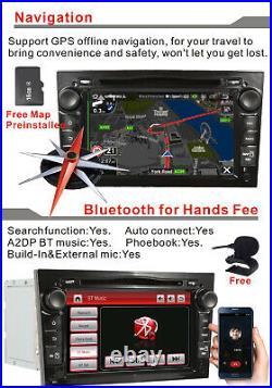 For OPEL Vauxhall ASTRA CORSA VECTRA ZAFIRA Car Stereo DVD GPS BT HeadUnit Black