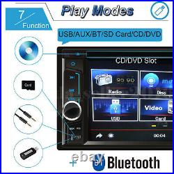 For Seat Ibiza Leon Double 2Din 6.2'' Car Stereo Radio CD DVD Player with Camera