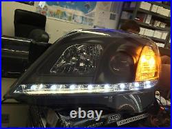 For Vauxhall Astra H 04-09 3D/5D DRL Black Projector Headlights Lamp Part