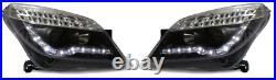 For Vauxhall Astra Mk5 H 04-09 Black Projector LED DRL Headlights Lamps LED Ind