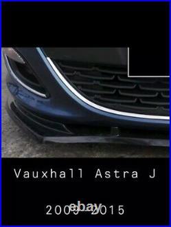 For Vauxhall Opel Astra J MK6 Front Bumper Lip Splitter 2009 2015 Sri Etc 5dr