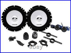 Kit 6 Speakers for OPEL / Vauxhall ASTRA H Alpine with adapters and spacer rings