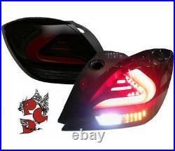 LED TAILLIGHTS OPEL ASTRA H 05-10 VXR 3-DOORS black/smoke carDNA COUPE HATCHBACK