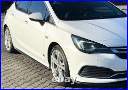Side Skirt Add-on Diffusers For Opel/vauxhall Astra K Opc-line/vx-line (2015-19)