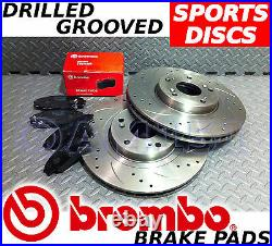 VAUXHALL Astra Zafira 240bhp VXR FRONT Drilled/Grooved Brake Discs & BREMBO Pads