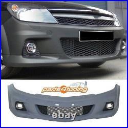 Vauxhall Astra H 2004-2009 Gtc 3 Doors Opc Vxr Style Front Bumper Pp Plastic